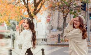 Giới trẻ check-in Hà Nội mùa thay lá ngỡ như ở trời Âu