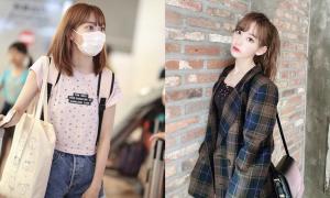 Biến đổi style của Sakura (IZONE): Từ xách bọc nilon 'lên đời' túi hiệu
