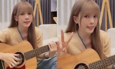 Thiều Bảo Trâm hát live 'Love Rosie' với guitar