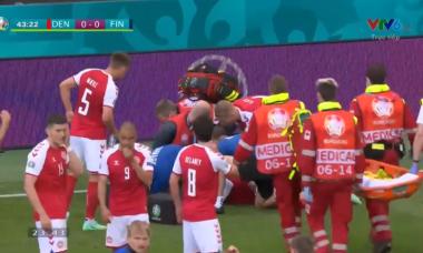 Video khoảnh khắc Christian Eriksen ngã gục trên sân