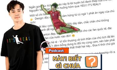 Đội 'Chủ tịch' Văn Toàn tranh thủ bán áo vẫn không quên cà khịa CĐV Malaysia