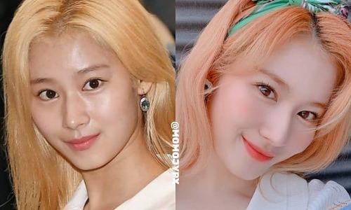 So sánh mặt mộc và 'mặt make' của Twice: Ai 'ăn' phấn son nhất?