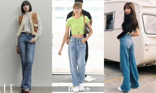 Lisa cao như mẫu vẫn có cả bộ sưu tập quần 'kéo dài chân'