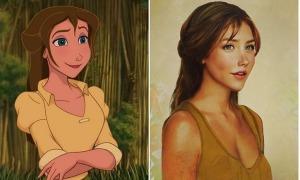 Công chúa Disney đẹp nao lòng khi được vẽ giống người thật
